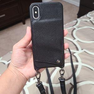 IPhoneX case with shoulder straps